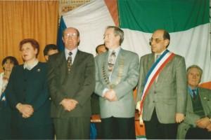 Les présidents des comités de jumelage et les maires des 2 villes