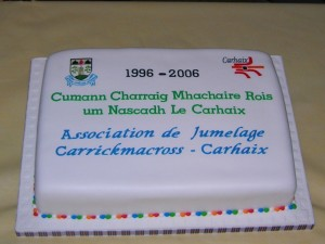 gateau d'anniversaire glacé, dans la pure tradition irlandaise.