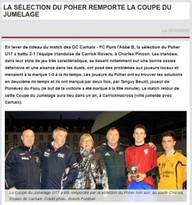 article Newsouest du 25 octobre 2015